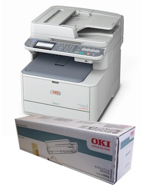OKI ES5461 consumables supplies, Black, Cyan, Magenta and yellow Toner and Drum cartridges, Fuser Units and Transfer Belts supplied for next day nationwide delivery call 01293 537827 for pricing and availability.