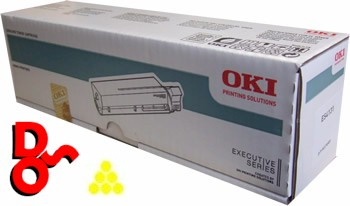 OKI ES5430 Yellow (Y) 44469740 Genuine OKI Toner Cartridge Executive Series Printer Cartridge Sales Nationwide next day Delivery