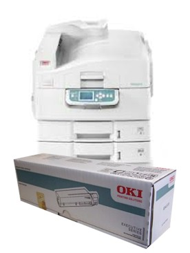 OKI ES3640pro consumables supplies, Black, Cyan, Magenta and yellow Toner and Drum cartridges, Fuser Units and Waste Toner Hoppers supplied for next day nationwide delivery call 01293 537827 for pricing and availability.
