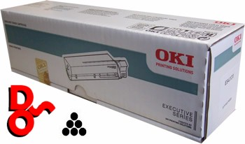 OKI ES3640a3 Black (K) 43837108 Genuine OKI Toner Cartridge Executive Series Printer Cartridge Sales Nationwide next day Delivery